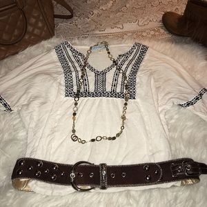 White Cotton Beautiful Boho Peasant Blouse ✌️